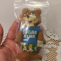 Vintage Sugar Bear Cereal Mini Stuffed Toy 4 1/2 Inch.
