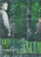 Supernatural Connections Fear No Evil Foil Puzzle Chase Card Set 9 Cards