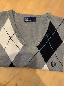 Men's FRED PERRY Argyle Jumper,