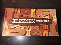 Vintage 1960's Kleenex Man Size 3 Ply 60 White Tissues Box Never Opened