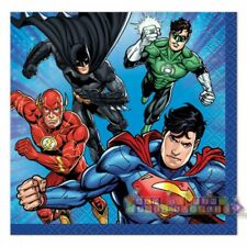 Justice League Small Napkins (16) ~ Birthday Party Supplies Dessert Serviettes