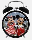 "Disney Mickey Minnie Alarm Desk Clock 3.75"" Home or Office Decor E116 Nice Gift"