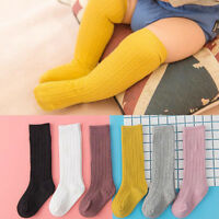 Newborn Baby Socks Solid Girl Boy Infant Knee High Socks Autumn Winter Warm Kids