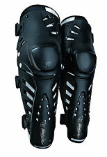 New Fox Racing Adult Black Titan Pro Knee/Shin Guards For MX & Off-Road Riding