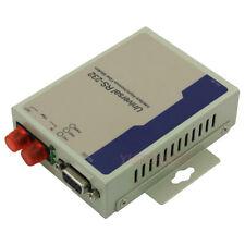 Industrial 1 Channel Bidirectional RS232 Digital Fiber Optic MODEM DB9 MM FC 2KM