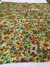 Coupon de tissu Vintage Coton imprimé floral 88 x 73cm Création Réf 1454/81-2