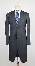 New OZWALD BOATENG Gray Nailhead Wool Blend Frock Sport Coat 52/42 R $1750