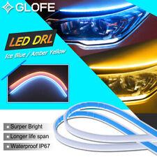 2*45cm Sequential Car Soft Tube LED Strip Daytime Running Light Turn Signal Lamp