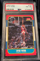 1986 FLEER SPUD WEBB #120 PSA 8 RC -FROM THE MICHAEL JORDAN ROOKIE SET!