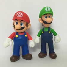 2X New Super Mario Bros. Mario & Luigi Doll PVC Plastic Action Figure Toy 5""