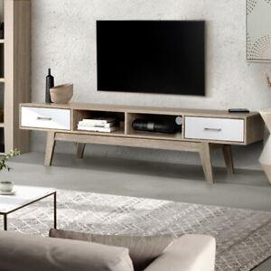 Artiss TV Cabinet Entertainment Unit Stand Storage Drawer Scandinavian 180cm Oak