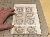 1850's UNUSED printing of 8 original REED BATES AUSTIN OXYGENATED BITTERS label
