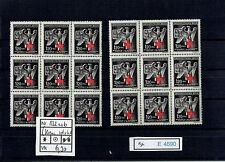 (E4690) Nr.132a** + b** Rotes Kreuz im 9er Blocks (helles + dunkeles Kreuz)