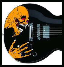Pushead Style custom Skull sticker decal skin for electric guitar (metallica)