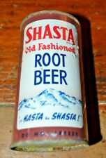Shasta Old Fashioned Root Beer Flat Top Soda Can Off Grade