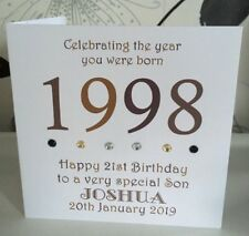21st 1998 Year You Were Born Birthday Card Personalised Son Daddy Nephew Brother