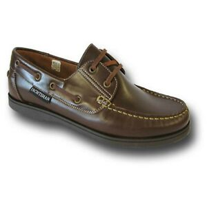 YACHTSMAN DECK SHOES SIZE 13 & 14 NAVY BROWN  : POST FREE  BIG SIZED SHOES