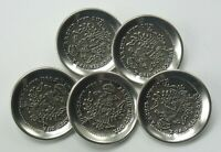 """5 Vintage Buttons Archid Avst Dux Burg Co Tyr 1780X Eagle Silver 1 1/8"""" T5"""