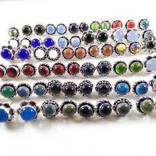 Garnet & Mix Gemstone Sterling silver plated stud Earrings tops 100 pair Lots