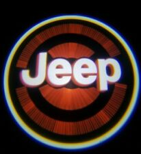 2PCS JEEP LED Rechargeable Car Door Projector Shadow Laser Light Logo