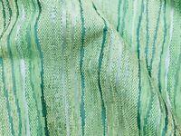 Green Vertical Stripe Stunning Woven Upholstery Fabric Material 140cm wide D1044