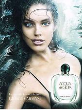 PUBLICITE ADVERTISING 014   2011   GIORGIO ARMANI    parfum  femme Gioa