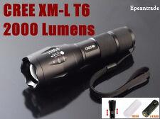 E17 ZOOMALE CREE XM-L T6 2000 LUMENS HIGH POWER TORCH LED FLASHLIGHT