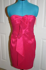 Phoebe Couture FUSCHIA PINK Strapless Versatile DRESS Sz 6 $310 New