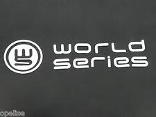 Original Renault World Series Heckklappe Emblem weiß Logo Megane & CLIO MK3 III