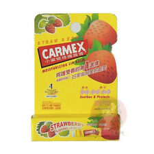 Carmex Moisturizing Dry & Chapped Lip Balm Care SPF 15 Strawberry Flavour US
