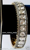 Retro  6.55Cts Natural Rose Antique Cut Diamond Sterling Silver Bangle Jewelry
