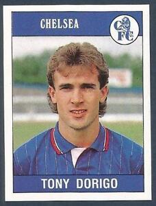 PANINI FOOTBALL 90- #054-CHELSEA & ENGLAND-ASTON VILLA-TONY DORIGO