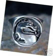 LOOK New Heavy Mortal Kombat Ring Dragon Sterling silver 925  Jewelry X