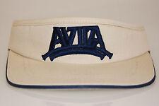 NEW Beige and blue Avila Golf Visor w/elastic adjust headband by Legendary (398)