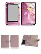 Happybird Nook Tablet Nook Color Case Cover with skin combo-pink set2(251)