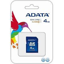Carte SDHC CLASS 4 --  4Gb ADATA NEUF