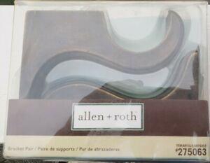 "Allen + Roth 2 Pack Venetian Gold 2"" Curtain Rod Bracket Set#275063 NEW w/Screws"