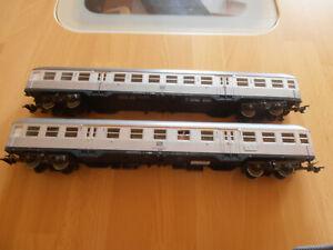 Märklin 4158 , 4159  Silberlinge , Personenwagen silber , Nahverkehrswagen