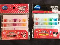 Mickey Minnie Disney  Clear Pick  Food  Picks BENTO Lunch box Accessories