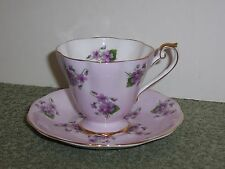 Royal Standard VIOLETS TEA CUP AND SAUCER Set Fine Bone China England