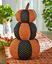 Triple Stack Primitive Country Stuffed Pumpkins Fall Harvest Thanksgiving Decor