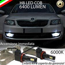 KIT FULL LED SKODA OCTAVIA III LAMPADE H8 FENDINEBBIA CANBUS 6400L 6000K