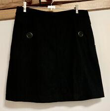 BEBE SYDNEY Womens Black A-line Short Skirt Size 12 -14