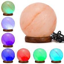 New* Natural Ionizing Himalayan Rock Crystal Salt Lamp Ball USB LED Multi Colour