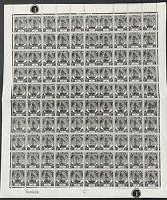 Malaya Selangor 1949 Sultan Definitive 1c Full Sheet UM