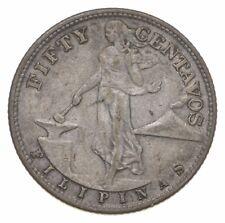 SILVER - WORLD Coin - 1944 Philippines 50 Centavos - World Silver Coin *832
