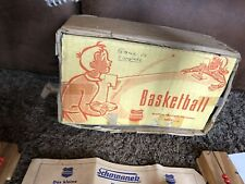 RARE VINTAGE WOOD BASKETBALL NET GAME TOY SCHOWANEK RETRO MADE IN GERMANY