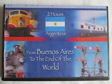 ARGENTINA FROM BUENOS AIRES TO THE END OF THE WOLRD - TRAIN VIDEO  DVD-R