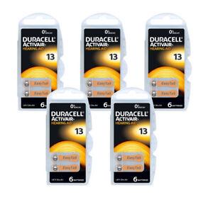 ORANGE Hearing Aid Batteries Duracell 13 DA13 A13 0% Mercury 1.45v x 30pcs