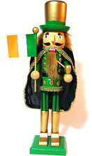 Irish Nutcracker Flag St Patrick'S Day Nutcracker Holding Proud Irish Flag.